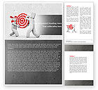 Business Concepts: Target Point Word Template #04751