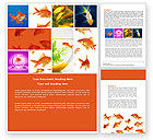 Agriculture and Animals: Various Goldfishes Word Template #04762