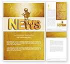 Careers/Industry: Latest News Word Template #04766