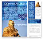 Education & Training: Confucius Word Template #04769