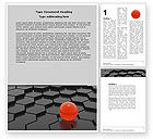 Business Concepts: Red Ball On Cells Word Template #04784