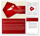 Holiday/Special Occasion: Letter With A Kiss Word Template #04795