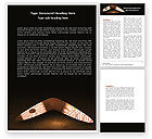 Art & Entertainment: Boomerang Word Template #04803