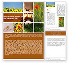 Agriculture and Animals: Summer On The Farm Word Template #04809