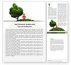 Nature & Environment: Green Development Word Template #04810