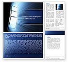 Careers/Industry: Film Tape Word Template #04812