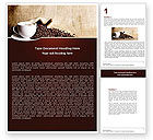 Food & Beverage: Coffee Break With Cappuccino Word Template #04820