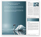 Agriculture and Animals: White Swan Word Template #04825
