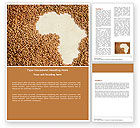 Medical: African Famine Word Template #04841