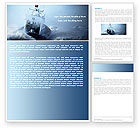 Nature & Environment: Sea Storm Word Template #04842