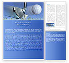 Sports: Slight Bump In Golf Word Template #04845