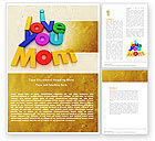 Education & Training: Mothers Day Word Template #04848