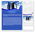 Construction: City Center Word Template #04854