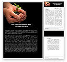 Nature & Environment: Planting Word Template #04862