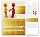 Business: Greeting Word Template #04867