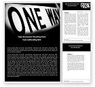 Business Concepts: One Way Word Template #04868