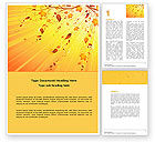 Abstract/Textures: Sunny Autumn Word Template #04891