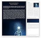 Technology, Science & Computers: デジタル世界とのつながり - Wordテンプレート #04903
