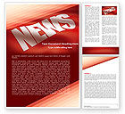 Careers/Industry: News Word Template #04913