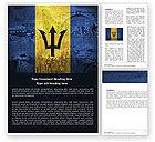 Flags/International: Barbados Word Template #04916