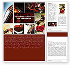 Art & Entertainment: Violin Collage Word Template #04918