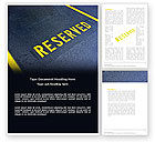 Business Concepts: Reserved Word Template #04929