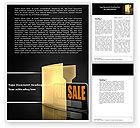 Careers/Industry: Zu verkaufen Word Vorlage #04930