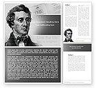 People: Henry David Thoreau Word Template #04936