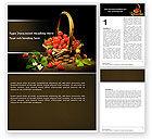 Food & Beverage: Strawberries Word Template #04942