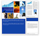 Sports: Mountain Climber Word Template #04944