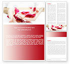 Medical: Scent Flower Petals Word Template #04955