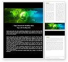 Global: Web Over The Earth Word Template #04970