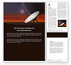 Telecommunication: Parabolic Aerial Word Template #04972