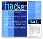 Technology, Science & Computers: Hacker Word Template #04973