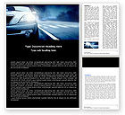 Cars/Transportation: Car On the Road In Twilight Word Template #04982