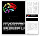 Medical: Brain Centers Word Template #04990