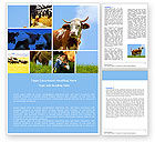 Agriculture and Animals: Cow Word Template #04991