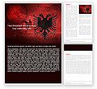 Flags/International: 阿尔巴尼亚Word模板 #05002