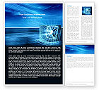 Technology, Science & Computers: 워드 템플릿 - 개인용 컴퓨터 유선 모델 #05007