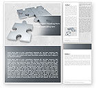 Consulting: Gray Jigsaw Word Template #05018