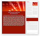 Abstract/Textures: Red Stars Word Template #05019