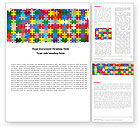 Abstract/Textures: Colorful Puzzle Canvas Word Template #05021