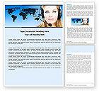 Telecommunication: Communication Service Word Template #05039