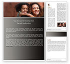 People: Mother and Daughter Word Template #05043