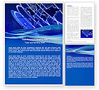 Telecommunication: Broadcasting Network Word Template #05044