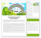 Education & Training: Childish Rainbow Word Template #05045