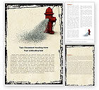 Careers/Industry: Fire Hydrant Word Template #05047