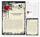 Holiday/Special Occasion: Love Ornament Word Template #05050