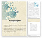 Abstract/Textures: Swirly Curls Word Template #05052