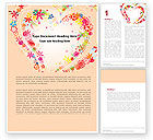 Holiday/Special Occasion: Blooming Heart Word Template #05055